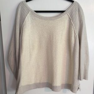 Free People boat neck 3/4 sleeve sweater